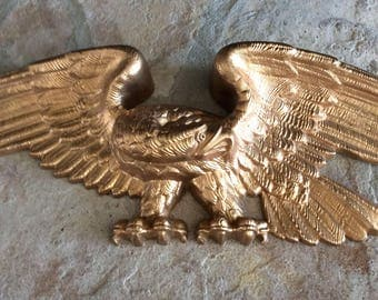 Vintage Large 2 Ft. Burwood/Syroco, Gold Eagle Wall Plaque, Americana, Mid Century, Cottage, Man Cave, Office Decor