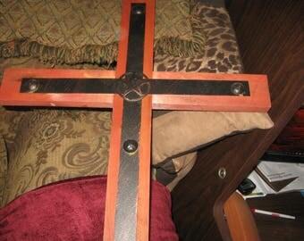 wood and  metal cross