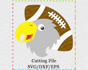 EXCLUSIVE SVG eps DXF Cutting File Eagle Football svg, mascot svg, eagles football svg, football svg, eagle cut file, eagles cutting file