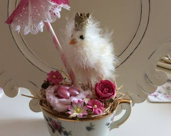 SALE  Feathered Chick Teacup