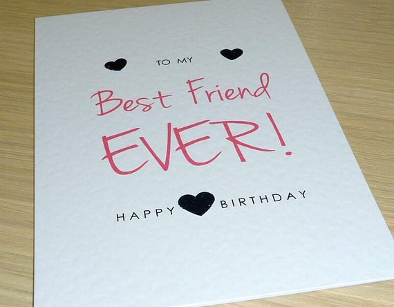 Female Happy Birthday Card Teenage Girl Best Friend Ever