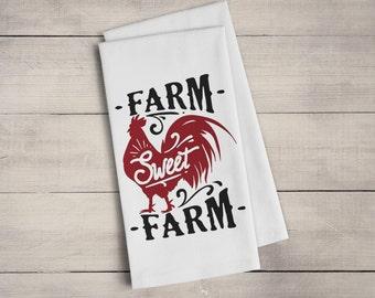 Farmhouse Dish Towel - Farm Sweet Farm Kitchen Towel