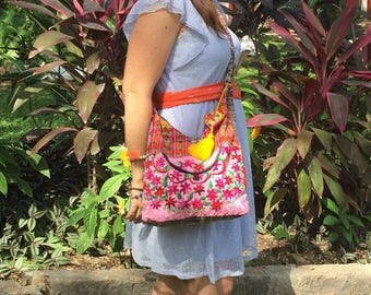Mexican handbag, hand embroidered, Orignal Design