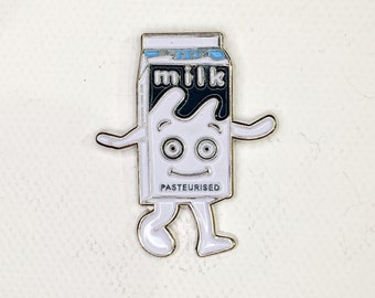 Milk Carton Soft Enamel Pin