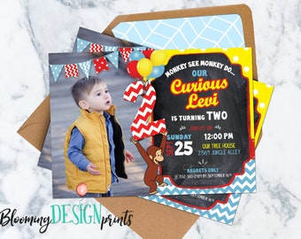 Curious George Invitation - Birthday Party