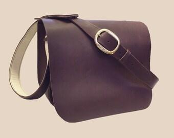 Messenger Brown Leather Bag, Messenger Unisex Leather Bag, Messenger Handbag