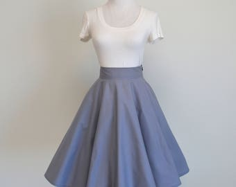 Soft Gray Homemade Circle/Swing Skirt