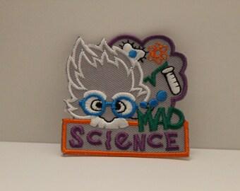 Mad Science Patch (1) - Einstein STEM chemistry lab biology physics scientists