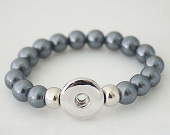Charcoal Gray Stretch Bracelet