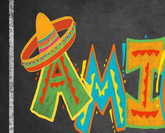Fiesta Bathroom signs  Amigos   Amigas Mexican Party Signs  Printable DIY  Birthday Fiesta Signs  Fiesta party decor  Taco party sign. Fiesta Bathroom signs Amigos   Amigas Mexican Party Signs