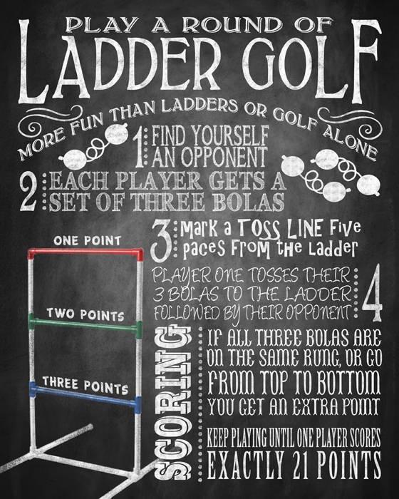 Yard Games Ladder Golf Yard Game Sign Bbq Yard Games