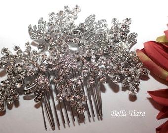 Crystal wedding comb, Swarovski crystal comb, bridal hair comb, crystal bridal comb, wedding side comb, bridal hair clip, wedding hair clip