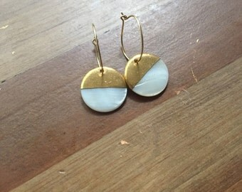 Moon on the Half Shell Earrings
