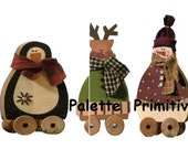 Winter Spoolie Pals E-Pattern/Instant Download