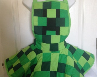 Minecraft Creeper Face Ruffle Skirt Apron