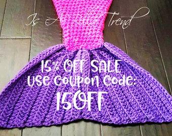 Mermaid Tail Blanket Adult Mermaid Tail Blanket Child Mermaid Tail Crochet Mermaid Tail Snuggle Blanket Girl Birthday Gift Afghan Cozy