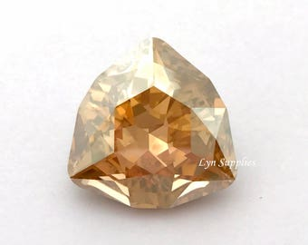 4706 GOLDEN SHADOW 24mm Swarovski Crystal Trilliant Fancy Stone
