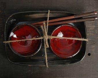 Rectangular serving platter, Rustic Sushi Set, Serving Ceramic Sushi Dishes, Serving Sushi Plate, lace sushi dish