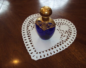 Blue Glass Perfume Bottle