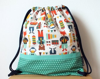 Party animal fabric backpack, kids bag, toddler school bag, kids back to school