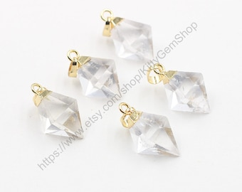 Clear Quartz Pendants -- Wholesale  gemstone charm finding accessory wedding party jewelry YHA-100,MHA