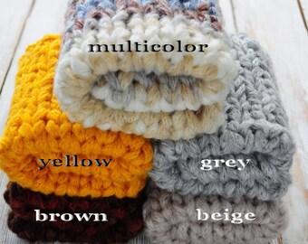 Prop Mini Blanket, Newborn blanket, Knit blanket, Basket Stuffer, Photo prop, Hand knit blanket
