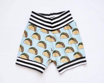 Tacos Baby Shorts / Boy Shorts / Girl Shorts / Headband - Last One!