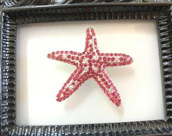 Pink Starfish Needle Minder