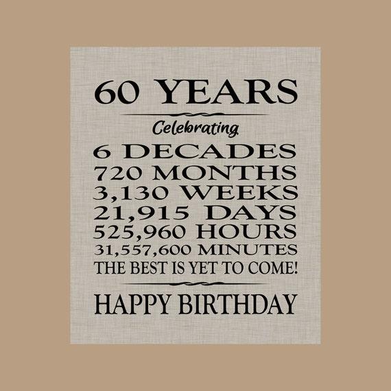 60 Birthday Sign Sixty Birthday Gift Sixty Birthday Banner