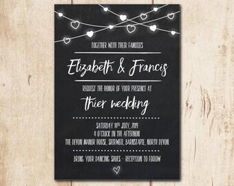 Chalkboard wedding invitation – Etsy UK