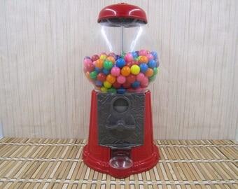 Vintage Red Continental  Gum Ball Machine
