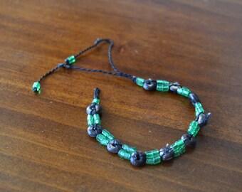 Worn Adjustable Beaded Bracelet