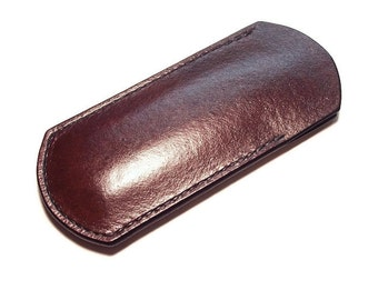 Buck 110 knife flat custom leather sheath/pouch/plain with or without belt loop