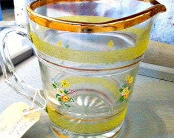 Vintage Retro Sherdley Water Set with Pitcher Jug & Six Tumblers