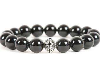 Black Tourmaline bracelet, Root Chakra Bracelet, Handmade Gemstone Jewelry, Gemstone Handmade Jewelry, vitality, energy stone