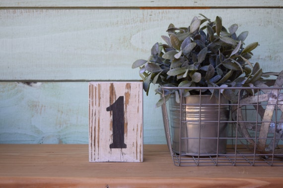 SALE! Chippy Paint Wood Number Sign