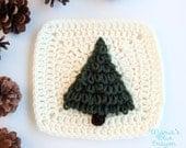 Woodland Tree Applique - Granny Square Crochet Pattern