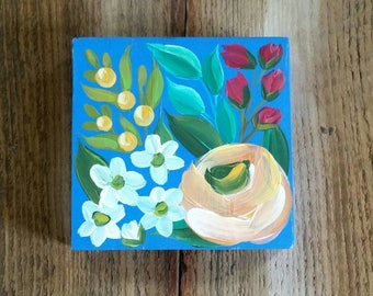 Floral mini handpainted decor