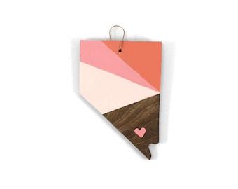 Nevada Heart Ornament