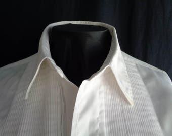 Vintage tuxedo shirt white cotton