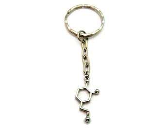 Dopamine Keychain Molecule Keychain Science Keychain STEM Keychain Chemistry Keychain
