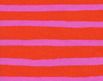 Wonderland --Cheshire Stripe in Orange by Rifle Paper Company for Cotton and Steel
