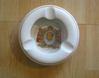 Vintage King George and Queen Elizabeth 1937 Coronation Ashtray