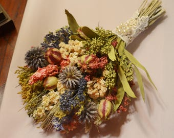 Dried Flower Wedding Bouquet, Wedding Bouquet, Bridal Bouquet - Can Be Made To Order