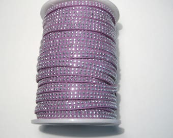 10ft Purple Faux Suede Studded Cord 5x2mm