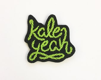 Kale Yeah - hand embroidered patch