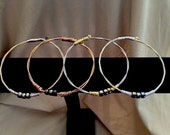 New Item! Mixed Metals Guitar String Bangle For Him/Men's For Her/Women's