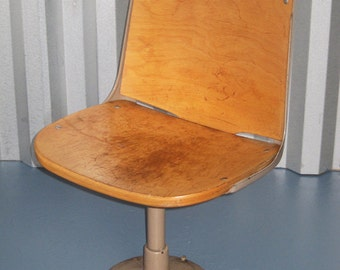 Mid century bent plywood auditorium chairs