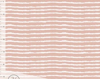 Fabric -  Elvelyckan Design - Dusty pink on the line - stripe - organic jersey knit