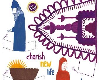 A paper DIY nativity scene A4